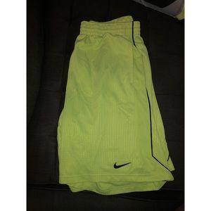 Neon yellow men's Nike shorts